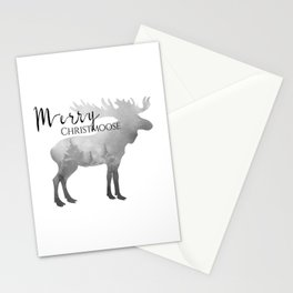 Holiday decor. Moose with signature. Stationery Cards