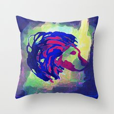 PRIMITIVE LION - 014 Throw Pillow