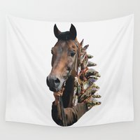 seahorse Wall Tapestries featuring Seahorse by Lerson
