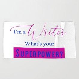 Writer Superpower Beach Towel