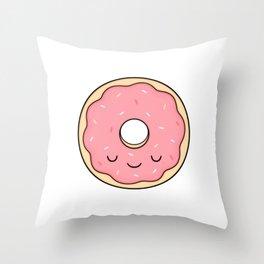 Donut - Pink Sprinkles Throw Pillow