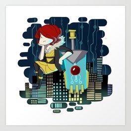 Transistor Welcome to Cloudbank Art Print