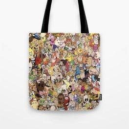 Cartoon Collage Tote Bag