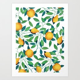 Lemon pattern II Art Print