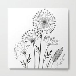 Doodle herbals Metal Print