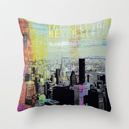 The City Never Sleeps Throw Pillow