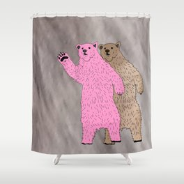 Build A Bigger Bear, Catch a Load of Salmon Shower Curtain
