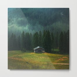 House On The Mountain Metal Print