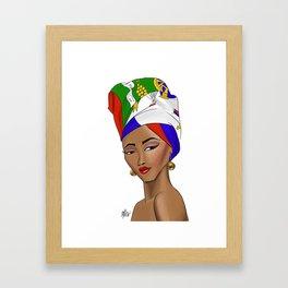 Lady Haiti Framed Art Print