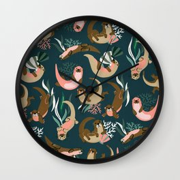 Otter Collection - Teal Palette Wall Clock