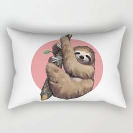 Slothing around Rectangular Pillow