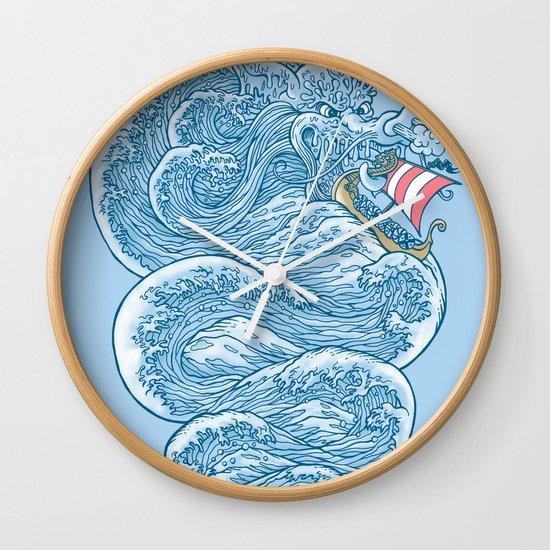 hello little dragon Wall Clock