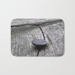 Nail and old wood Bath Mat