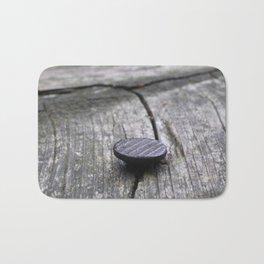 Nail and old wood Bath Mat
