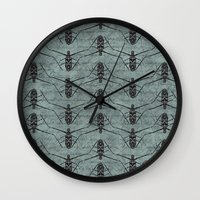 insects Wall Clocks featuring Insects by LaMoret