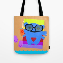 Blue monster and sea Tote Bag