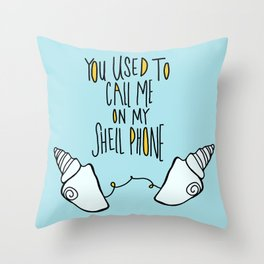 Shellphone Vibes Throw Pillow