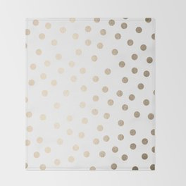 Simply Dots in White Gold Sands Throw Blanket