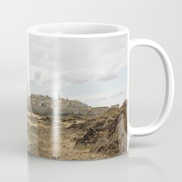 Cited of St Malo at low tide, under a cloudy sky (Brittany, France). Coffee Mug