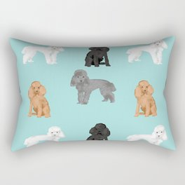Toy Poodles mixed coat colors dog breed gifts pet portraits must haves poodles Rectangular Pillow
