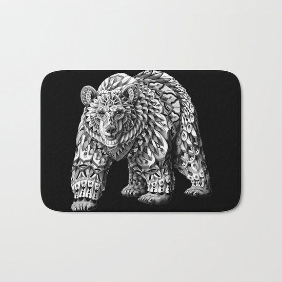 Ornate Bear Bath Mat