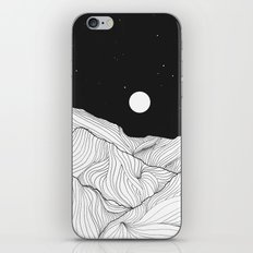 Lines in the mountains II iPhone Skin