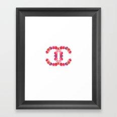 channel of roses Framed Art Print