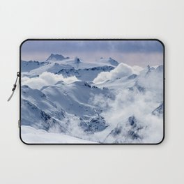 Snowy Mountains and Glaciers Laptop Sleeve