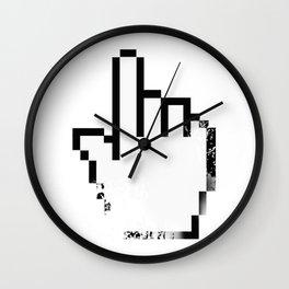 Faded Finger Cursor - Computer Geek Design Wall Clock