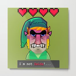 Im Not Zelda. Metal Print