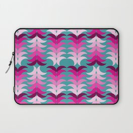 tropical floral on blue Laptop Sleeve
