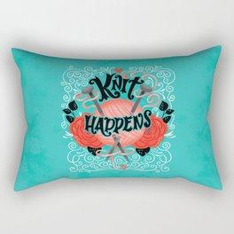 Knit Happens Rectangular Pillow