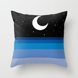 MOON UNDER THE SEA Throw Pillow