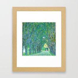 Gustav Klimt - Allee im Park von Schloss Kammer (new editing) Framed Art Print