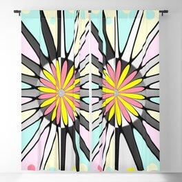 Happy geometric design Blackout Curtain