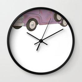 Vintage Trucks Purple Pickup Truck Wall Clock