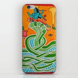 Krishna & the snake iPhone Skin