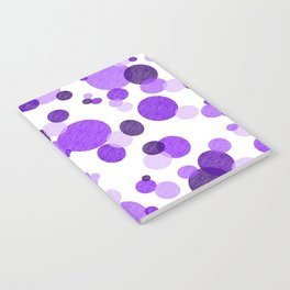 Purple Polka Notebook