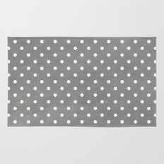 dark gray swiss dots Rug