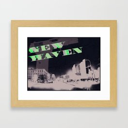 Gun Wavin, New Haven Framed Art Print