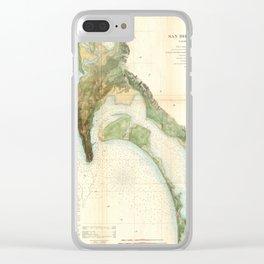 San Diego Bay 1857 Clear iPhone Case