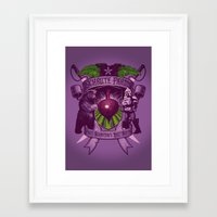 battlestar Framed Art Prints featuring Bears, Beets, Battlestar Galactica by Leon Ryan