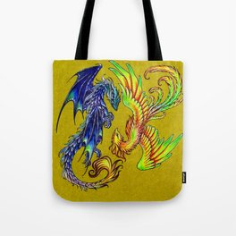 dragon phoenix Tote Bag