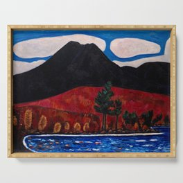 Mt. Katahdin, Autumn #2  by Marsden Hartley Serving Tray