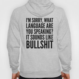I'm Sorry, What Language Are You Speaking? It Sounds Like Bullshit Hoody