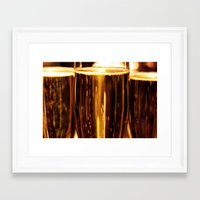 champagne Framed Art Prints featuring Champagne  by Al Robinson