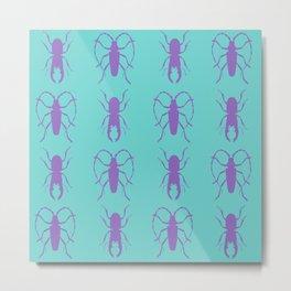 Beetle Grid V1 Metal Print