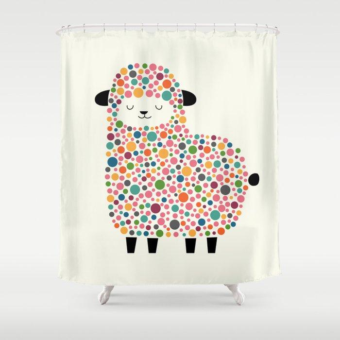 Bubble Sheep Shower Curtain