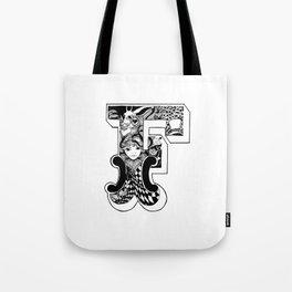 F Alice's Alphabet Tote Bag