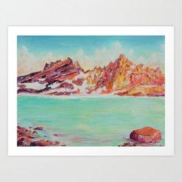 Broken Top Lake Art Print